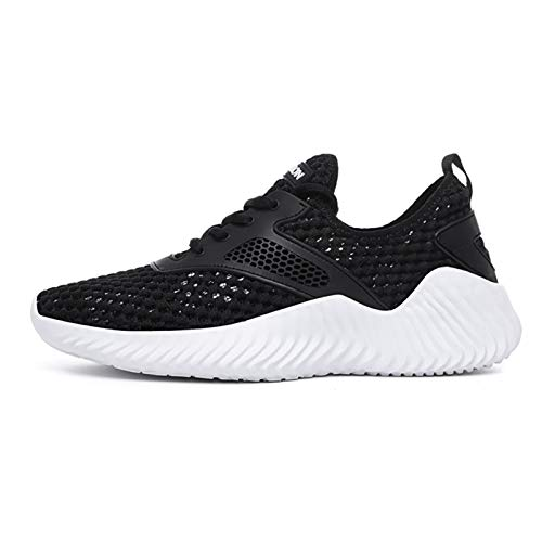 ZIJ Nuevas Zapatillas para Correr de Moda, cómodsables Zapatos Deportivos Transpirables sin Cuero. (Color : Black White, Shoe Size : 13)