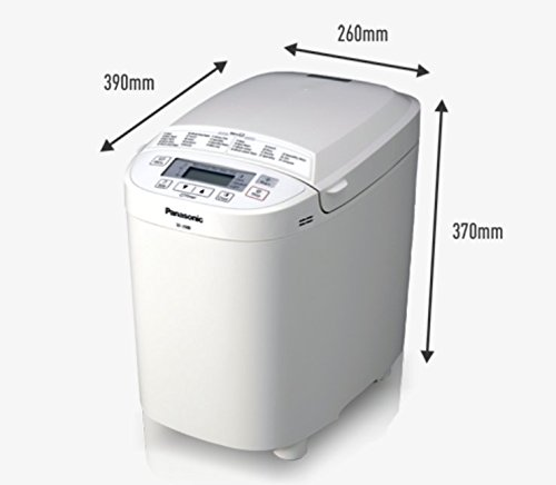 Panasonic SD-2500WXC Compact Breadmaker with Gluten Free Programme, White