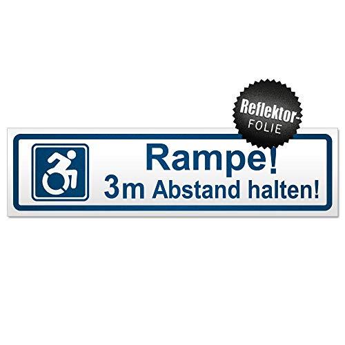 Kiwistar Rampe! Motiv 3m Abstand halten! Magnetschild Schild magnetisch