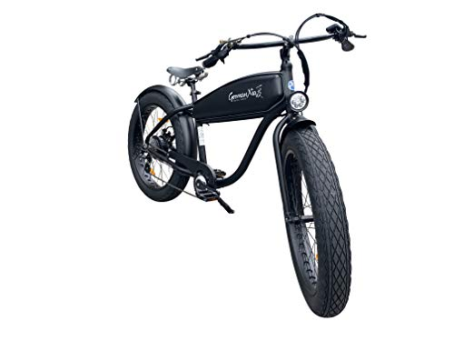 "41ikTAcTkrL - GermanXia® Black Sinner 26"" Zoll E-Fatbike Beachcruiser 13/17,5Ah, E-Bike, 250W, Hydraulik-Scheibenbremse"
