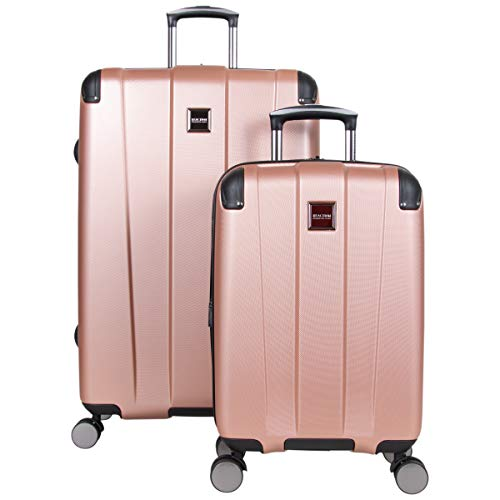 Kenneth Cole Reaction Continuum Hardside 8-Wheel Expandable Upright Spinner Luggage, Rose Gold, 2-Piece (20' Carry-On / 28' Check Size)