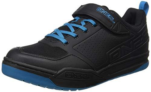 O'NEAL | Fahrrad-Schuh | Mountainbike MTB DH FR Downhill Freeride | SPD-Pedalplatten-kompatibel, haltbares und leichtes PU, Belüftungsöffnungen | Flow SPD Shoe | Erwachsene | Schwarz Blau | Größe 47
