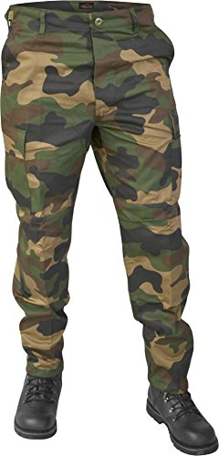 USMC Paintball Hose Rangerhose Outdoor Farbe Woodland Größe M