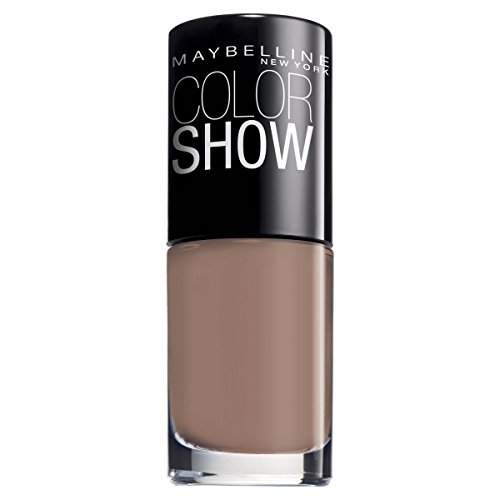 Maybelline New York Make-Up Nailpolish Color Show Nagellack Mauve Kiss / Ultra glänzender Farblack in zartem Braun, 1 x 7 ml