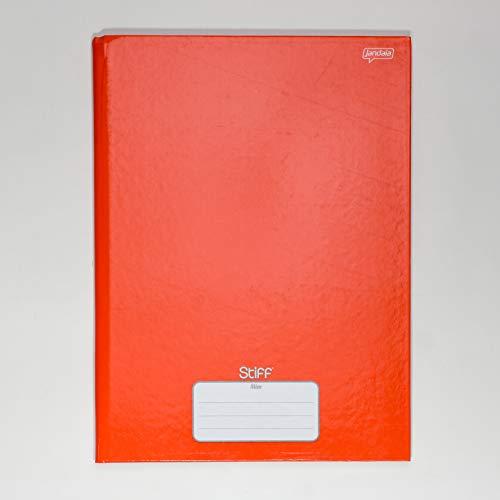 Caderno Brochura 1/4 80 folhas Stiff Slim Vermelho Jandaia