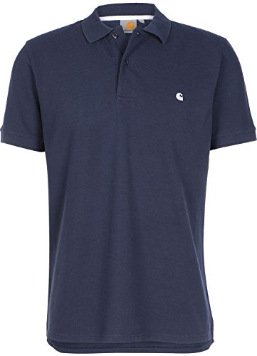 Carhartt WIP Slim Fit Polo S blue/white