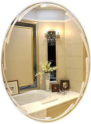 LHQ-HQ Baño Europea Espejo, Espejo sin Marco Simple - óvalo de Cristal Espejo Decorativo - Decoración Compatible with la Pared de Espejo (Color: B, 尺寸 Tamaño: 45x60cm)