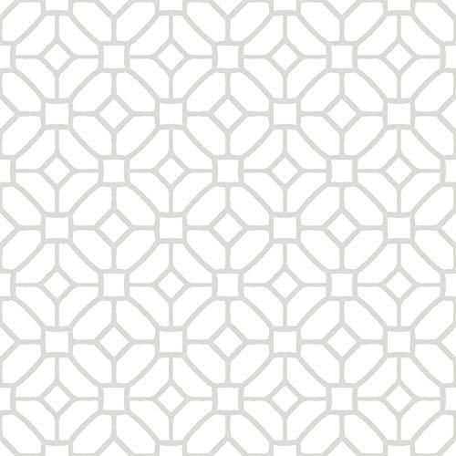 WallPops FP2946 - Azulejos de piso para pelar y pegar, color gris y blanco
