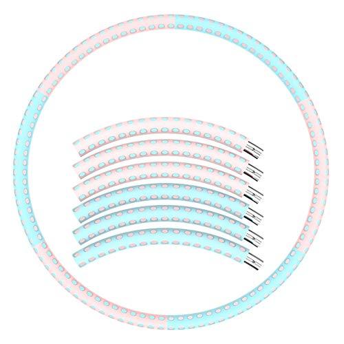 Hula Hoop Zur Gewichtsreduktion Und Massage, 6 Abnehmbarer Hula Hoop Zur Fitness- / Sport- / Heim- / Büro- / Bauchformung Und Fettverbrennung (Color : Blue)