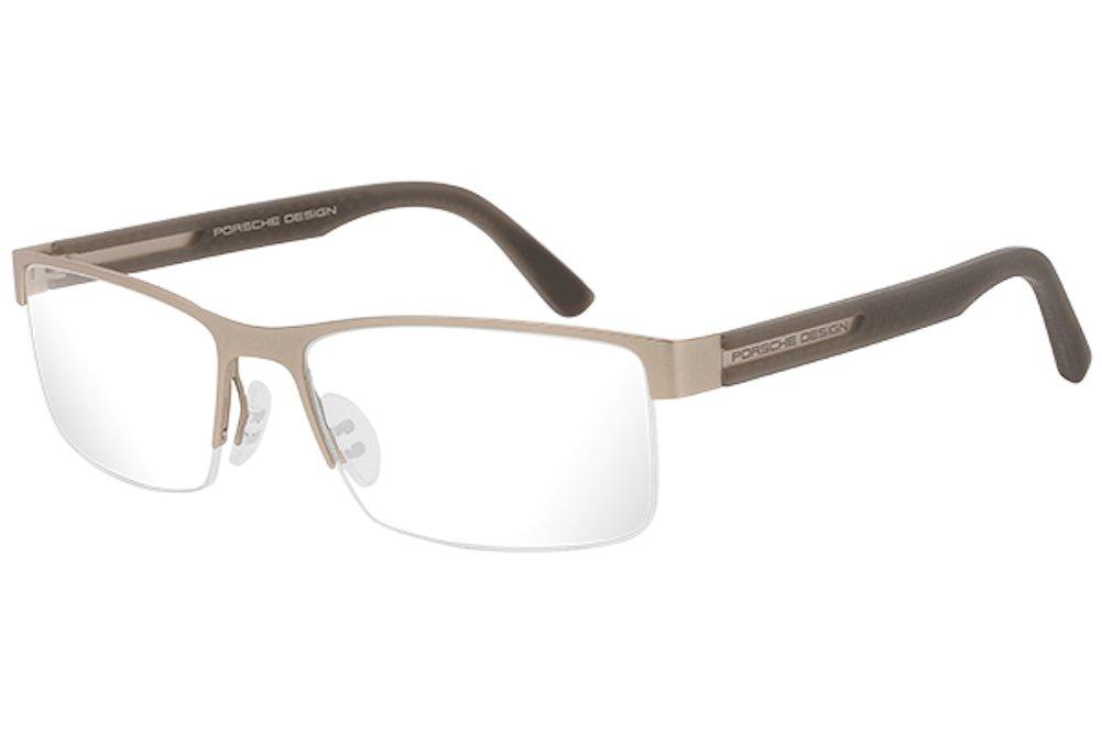Porsche Design Men's Eyeglasses P'8230 P8230 C Gold Half Rim Optical Frame 55MM