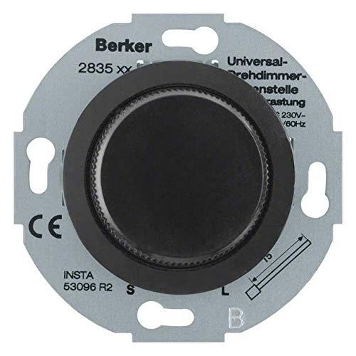 Berker Universele draaiknop sw 283511 bijstel m.softr. GLATERIE; PALAZZO; SERIE 1930 dimmer 4011334282723