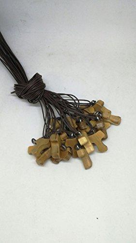 N.20 portachiavi Tau ulivo croce da cm 3 San Francesco Assisi legno olivo pace