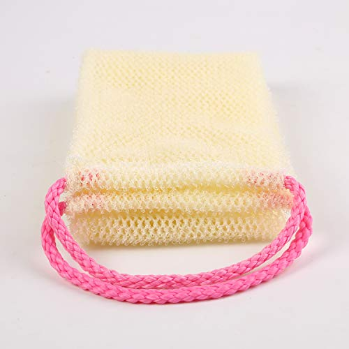 Exfoliating Back Scrubber Bath Shower Loofah Sponge Nylon for Shower Body Dead Skin Scrubbing to Clean Your Back Deeply (4.5 x 35 inches, Pink)