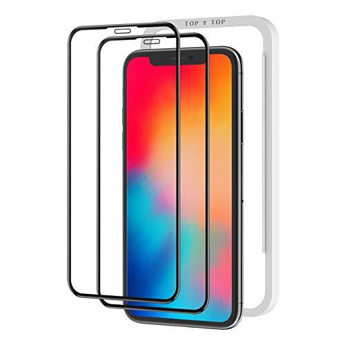 【2枚セット】Nimaso iPhone11 Pro/iPhoneX/Xs(5.8インチ)用 全面保護フィルム 液晶強化ガラス 【フルカ...