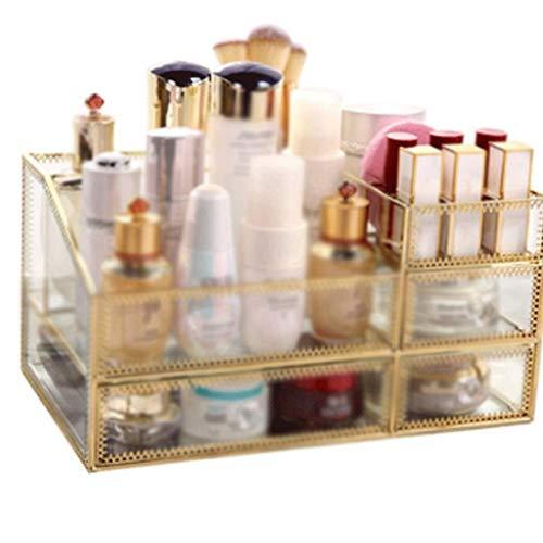 WYBFZTT-188 Estuche de Almacenamiento de cosméticos Organizador de Maquillaje Almacenamiento Espacioso para Maquillaje, cepillos, perfumes, Cuidado de la Piel