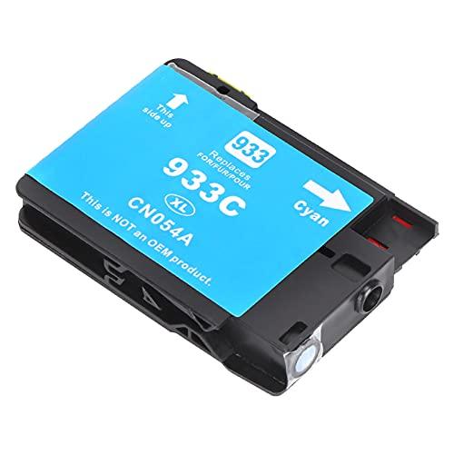 Cartucho de impresora apto para HP 933 6600 6700 7110 7510 7512 7612 Suministros de tinta para oficina y escuela(azul)