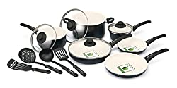 GreenLife 14 Piece Non-Stick Ceramic Cookware Set with Soft Grip