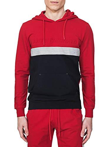 Antony Morato Sudadera Logo Relieve Rojo Hombre