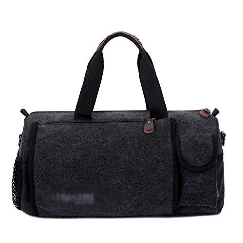 ZXC Home Handtas voor buiten, reizen, opbergtas van zeildoek, grote capaciteit, sportieve training, multifunctioneel, schoudertas, bagagetas, keuze uit 3 kleuren