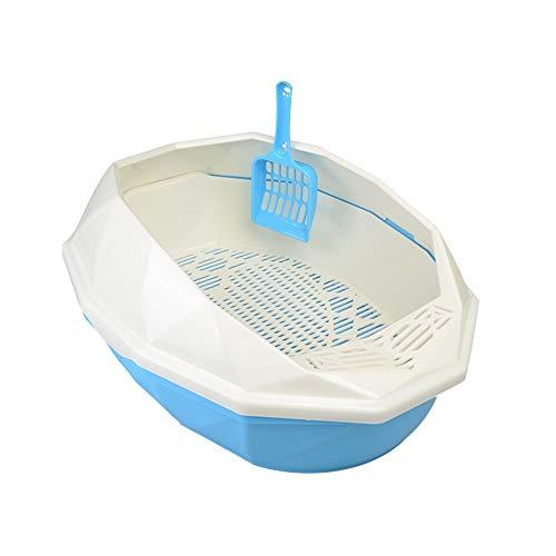 YAzNdom Kattentoilet, open vuilnisbak, vormig kristallen voor binnen of buiten, gebruikt kattenbakje met deksel
