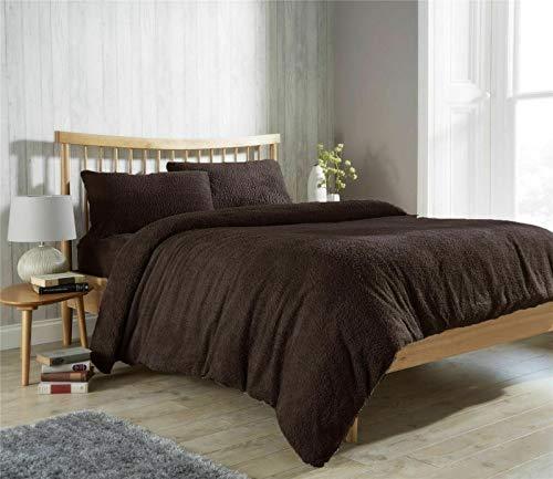Gaveno Cavailia Teddy - Par de fundas de almohada (2 fundas de almohada, diseño de peluche, color marrón