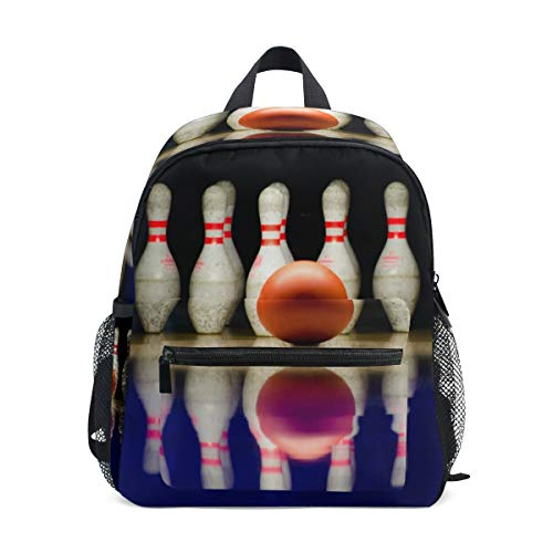 Bowling-Spiel-Rucksack für Mädchen, Jungen, Kinder, Schule, Reisen, Kinder, Mini-Büchertasche
