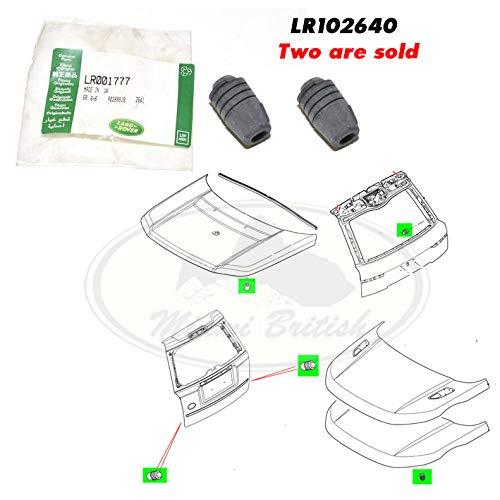 Miami British Tail GATE Hood Adjustable Rubber Bumper Set x2 LR2 EVOQUE Range LR102640 OEM