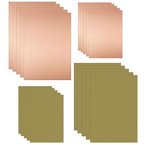 KLYNGTSK 20 PCS Revestido de Cobre PCB FR-4 Placa PCB Sola Cara y Doble Cara Placa Revestida de Cobre Kit Laminado Placa de Circuito para Mantenimiento de Soldadura Industrial DIY (5*7cm y 10*7cm)