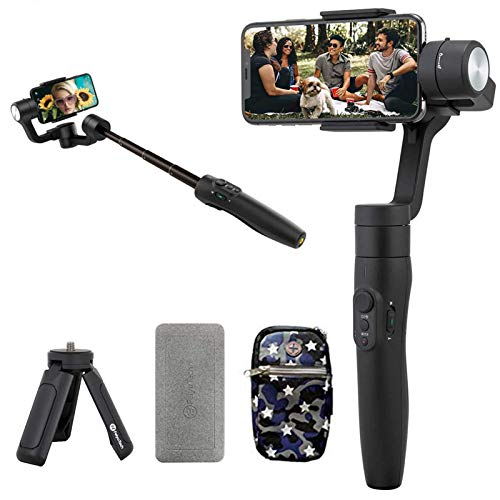 FeiyuTech Vimble 2S Handheld Gimbal Stabilizer para Smartphone iPhone 11/11prox/11 pro max/8/7 huawei samsong con Barra de extensión de 18 cm