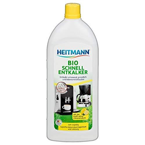 Heitmann Bio Schnell Entkalker: Reinigung von Elektrogeräten, Kaffeemaschinen, Espressomaschinen, Wasserkocher, 250ml