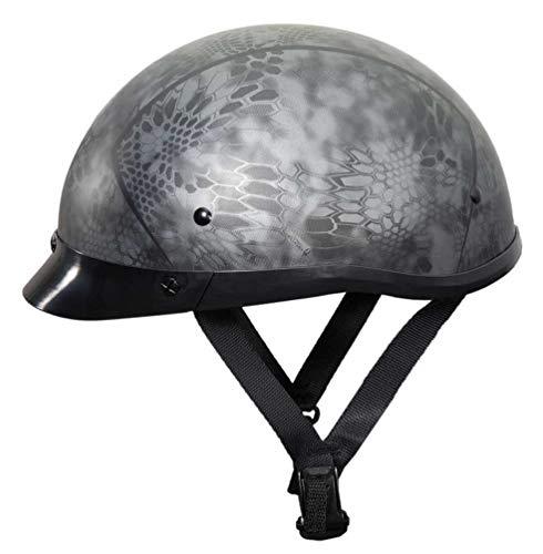 Fulmer Powersports Phantom Low Profile Motorcycle Half Helmet - Kryptex (XL)