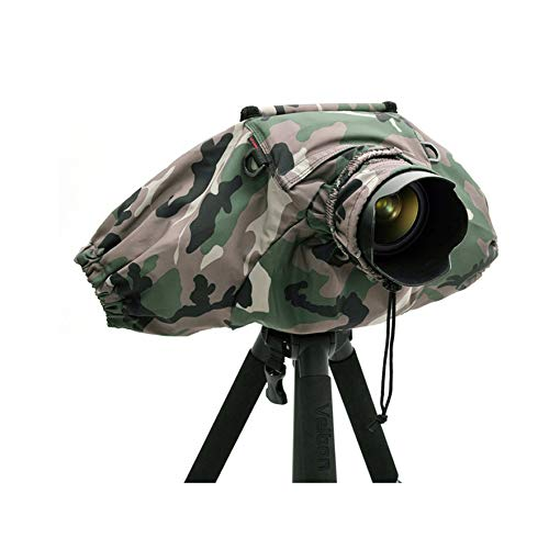 Camera Rain Covers Coat Bag Protector Rainproof Waterproof Against Dust for Canon/Sony/Nikon/Olympus/Pendax DSLR SLR (Camouflage)