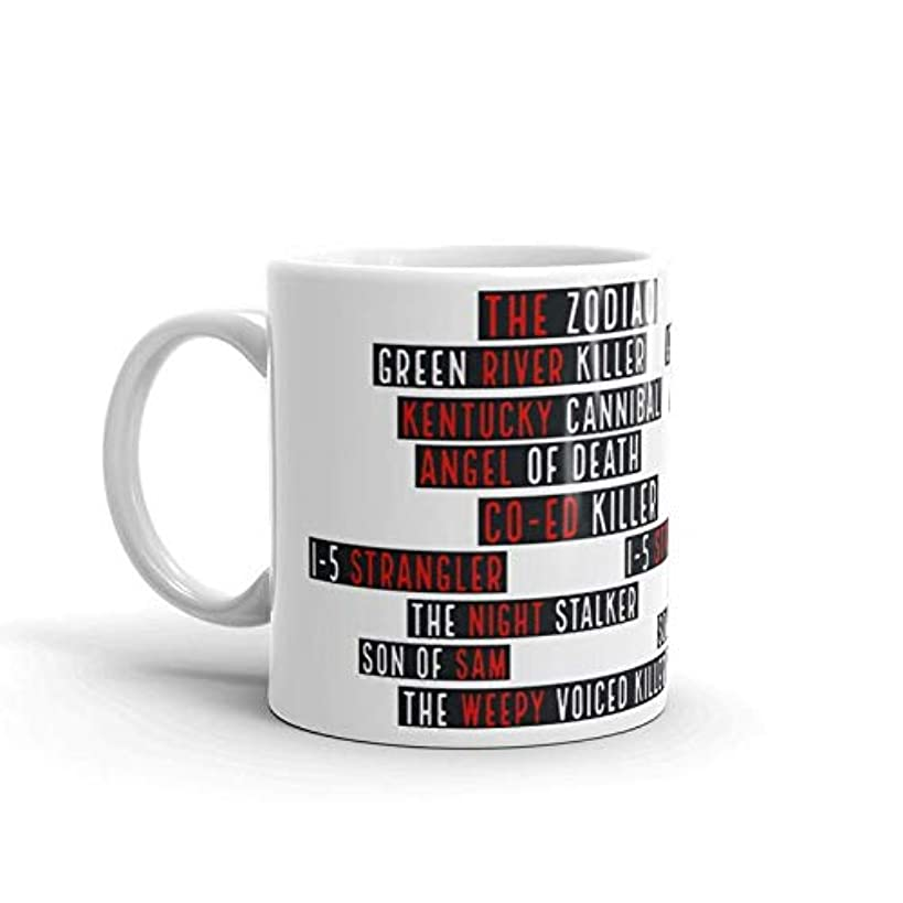 True Crime Serial Killer Mug, Gift for True Crime Addicts, MFM Podcast Fans, Crime Junkies, Zodiac Killer, Night Stalker, Son of Sam