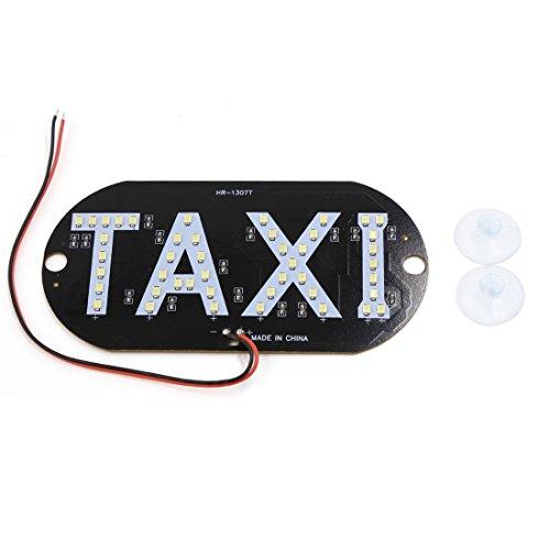 sourcing map Pare-brise pare-brise auto voiture SMD Blanc signe cabine 45 Taxi LED Lampe lumière