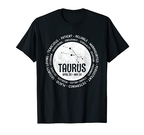 Tauro Zodiac Facts Rasgos Horóscopo Signo Astrología Regalo Camiseta