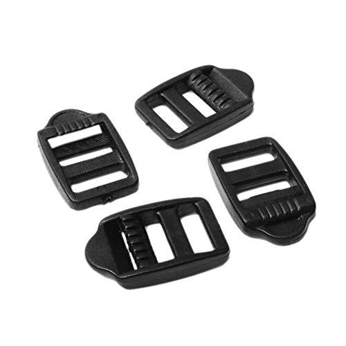25pcs Pack 1/2'(12mm) Webbing Plastic Ladder Lock Buckle Black for...