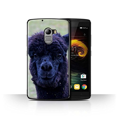 Stuff4 Phone Case for Lenovo Vibe K4 Note South America Alpaca Black Fur Transparent Clear Ultra Slim Thin Hard Back Cover