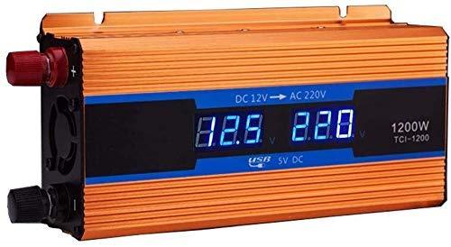 KPL potencia del inversor de onda sinusoidal pura 1200W 2600W 12V 24V 48V 60V 72V a AC 220V onda sinusoidal modificada del cargador del coche camión de suministro for el cuaderno, iPad, teléfo