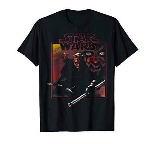 Star Wars Darth Maul Classic Movie Square Portrait T-Shirt