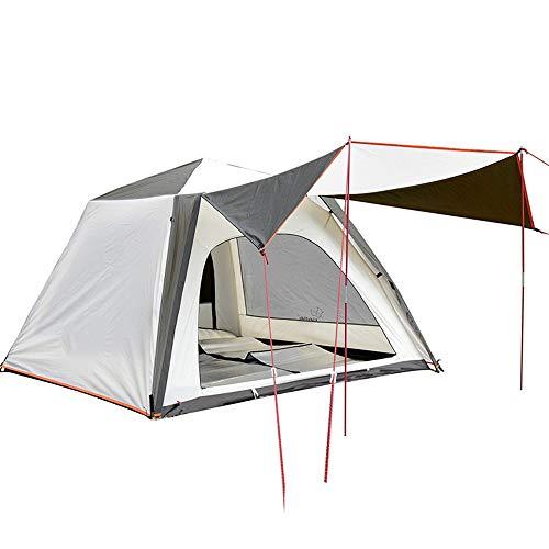Luyshts Carpa Blanco Al Aire Libre Camping Velocidad Automática Familia Abierta 3 Personas 4 Personas Tienda De Campaña Anti-tormenta Lluvia Anti-UV Tienda De Pesca En La Playa