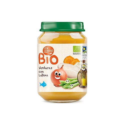 My Mená Pottitos Glass Vegetables and Bass Bio Organic 200 g [Pack of 9]
