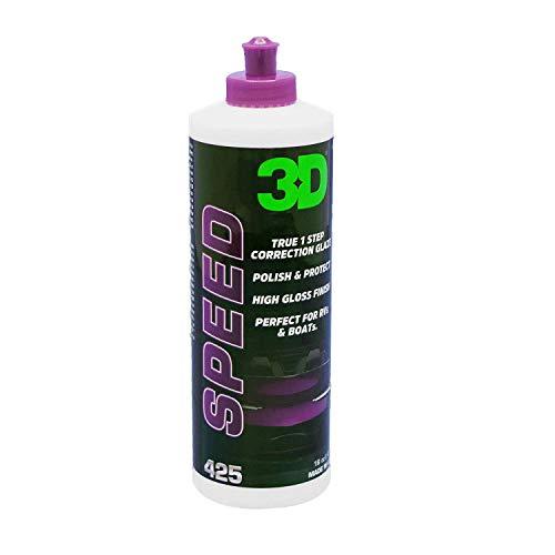 3d products HD Speed pule y Protege la Superficie Pintada en un Simple Paso. Elimina rasguños Superficiales de leves a moderados y Marcas de vórtice, dejando atrás la protección de Cera