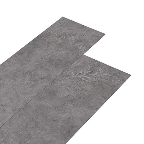 vidaXL PVC Laminat Dielen Rutschfest Vinylboden Vinyl Boden Planken Bodenbelag Fußboden Designboden Dielenboden 5,26m² 2mm Betongrau