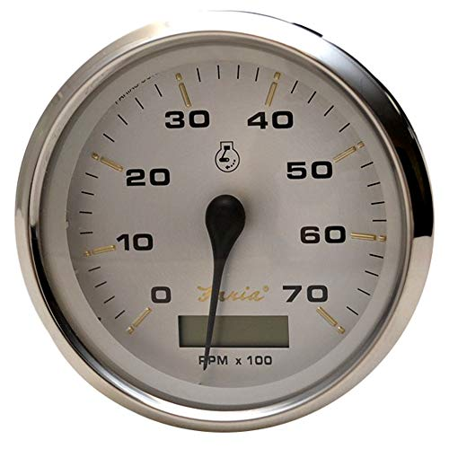 Faria 39040 Kronos Tachometer Gauge with Hourmeter 7000 RPM Gas Outboard - 4'