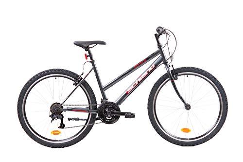 F.lli Schiano Ghost, Bici MTB Donna, Antracite-Rosso, 26