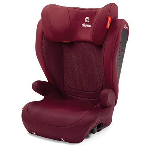 Diono Monterey 4DXT Latch, 2-in-1 Belt Positioning Forward Facing Booster Seat, High Back Booster Mode with Expandable Height, Width, 4-Layers of Protection, 8 Years 1 Booster, Plum