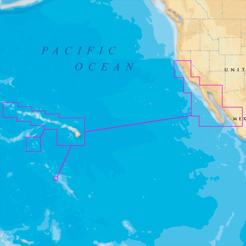 cwr Navionics Platinum Plus – Hawaii, California Sur a Baja – MicroSD/SD