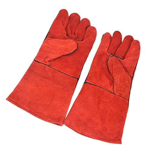 balacoo Tierhandschuhe Handschuhe Bissfest Leder Hund Katze Kratzer Vogel Handhabung Greifhandschuhe Reptilien Eichhörnchen Schlange Sicherheitsschutzhandschuhe
