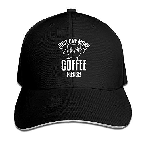ETXHU Zwarte Cap Koffie Verslaving Snapback Caps voor Mannen Verstelbare Jeugd Golf Caps Hoeden