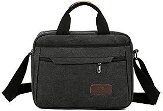 Army Green Messenger Bag for Laptop Camera FeliciaJuan Mens Shoulder Bag Simple Retro Zip Canvas Briefcase Shoulder Bag Messenger Bag Color